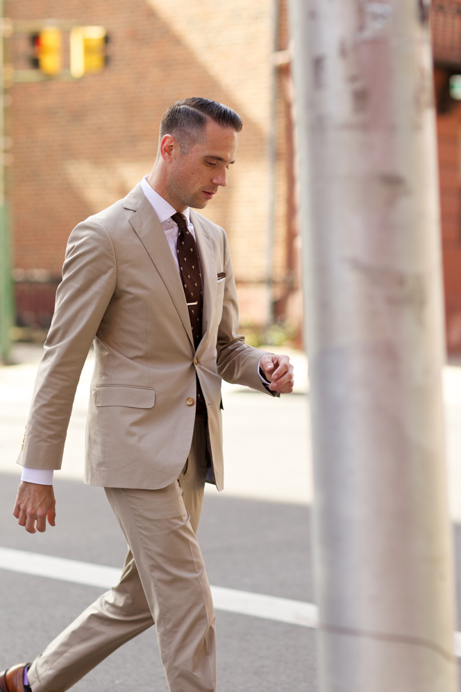 Essential Khaki Suit - He Spoke Style