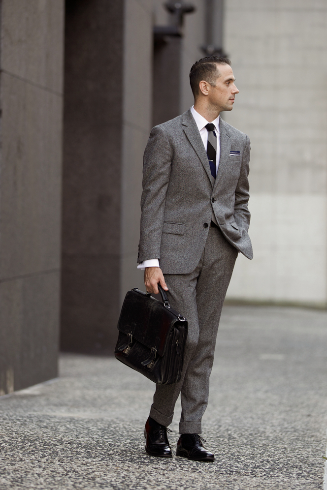 The Grey Tweed Suit - He Spoke Style
