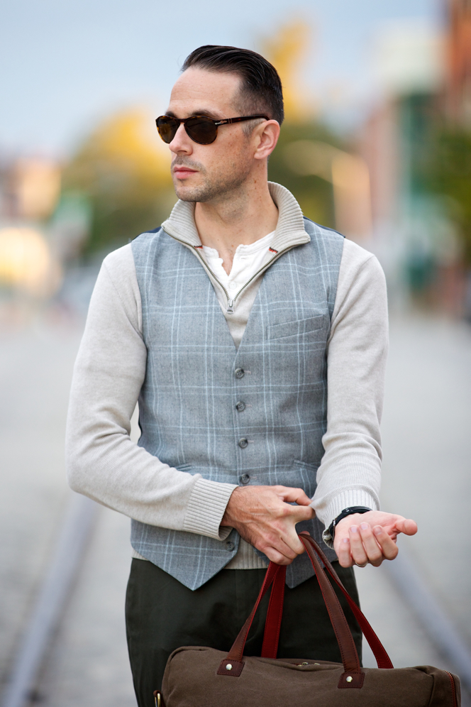 Plaid Three Piece Suit: Waistcoat Separate - He Spoke Style