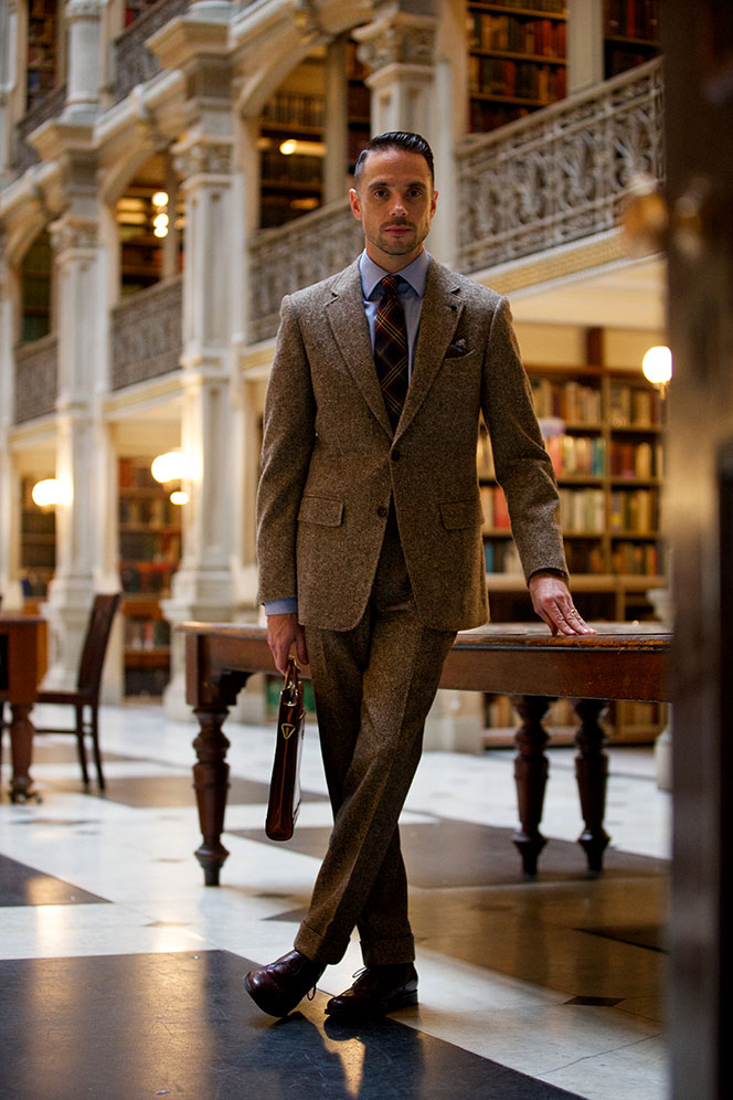 Brown Tweed Suit - Tweed Two Piece Suit - He Spoke Style