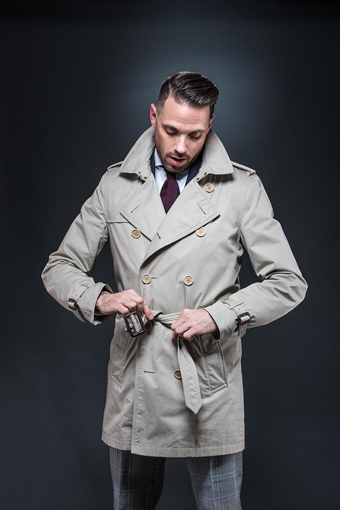 How To Belt a Trench Coat - He Spoke Style
