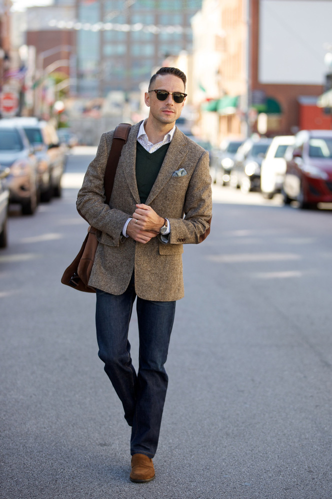 Brown Tweed Suit - Mens Outfit Ideas Fall 2015 - He Spoke Style