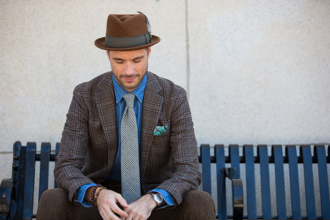 7435790d70895 Why not top off your fall style with a nice felt fedora  Feather optional.