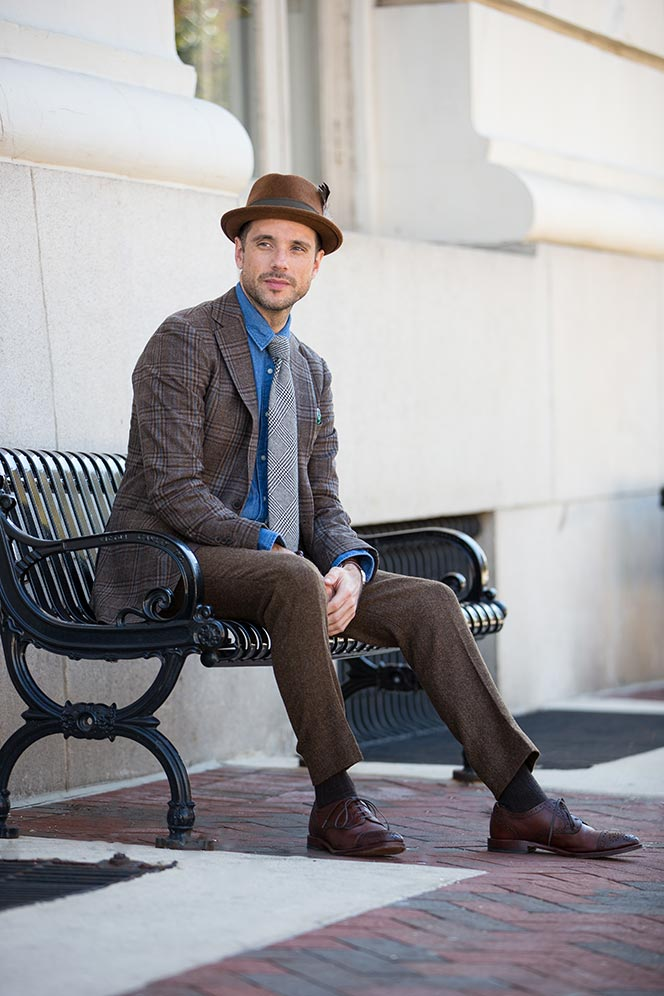 Men's Fedora Hats Fall Outfit Idea - He Spoke Style