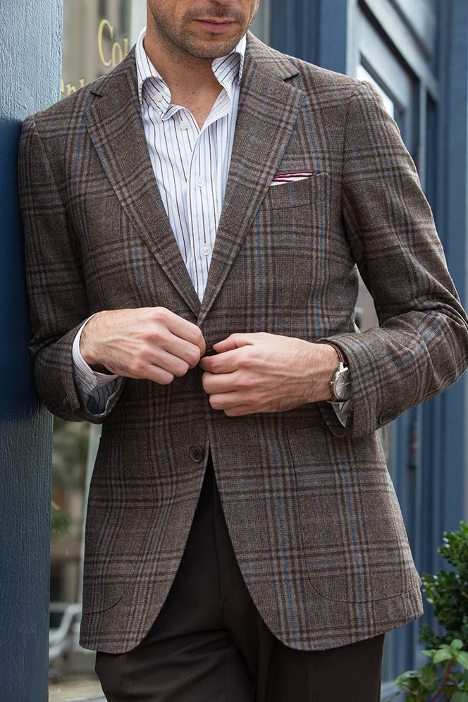 Plaid Mens Blazer - Fall Mens Outfit Ideas - He Spoke Style