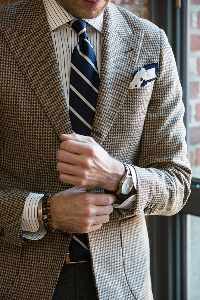 How To Wear a Houndstooth Blazer - He Spoke Style