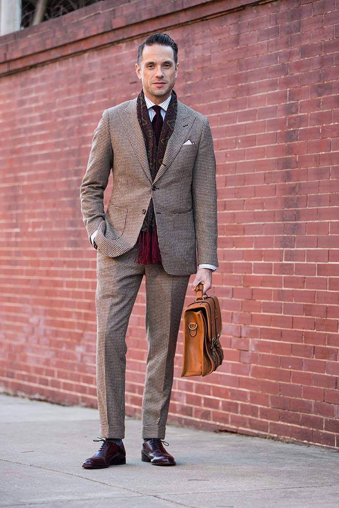 How To Wear a Houndstooth Suit , He Spoke Style