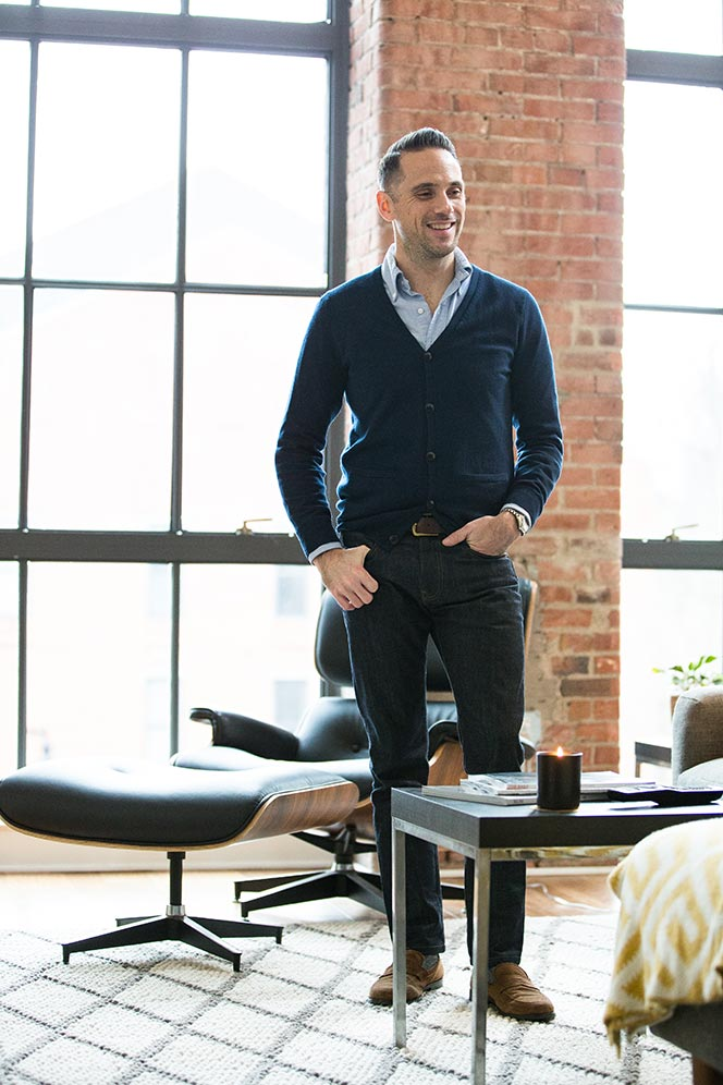 navy cardigan with jeans mens casual outfit idea