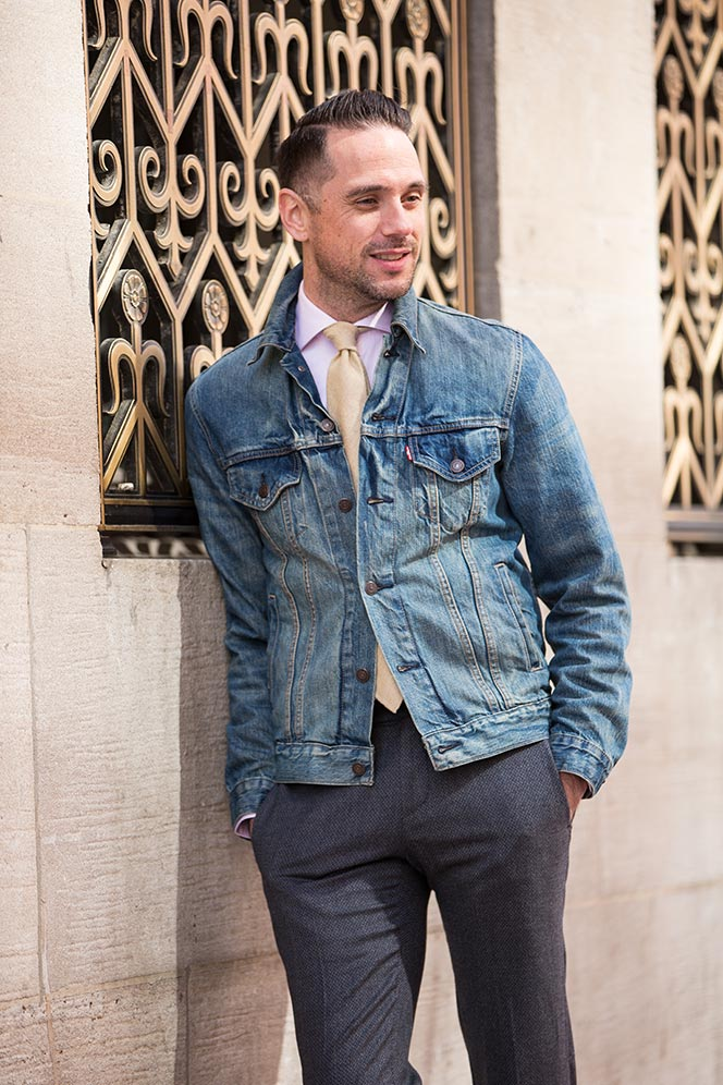 How To Wear a Denim Jacket as a Blazer - He Spoke Style