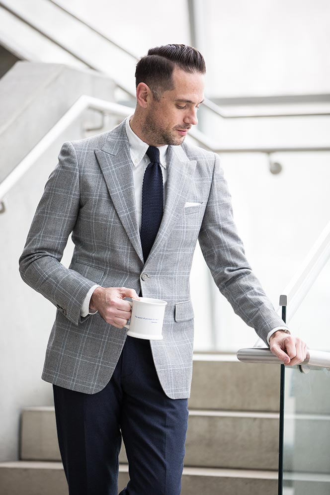 mens plaid blazer business casual outfit ideas for spring