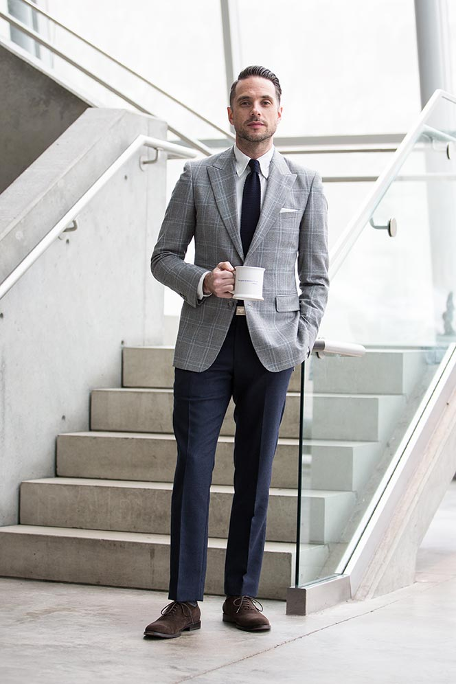 Navy Dress Pants With Black Shoes