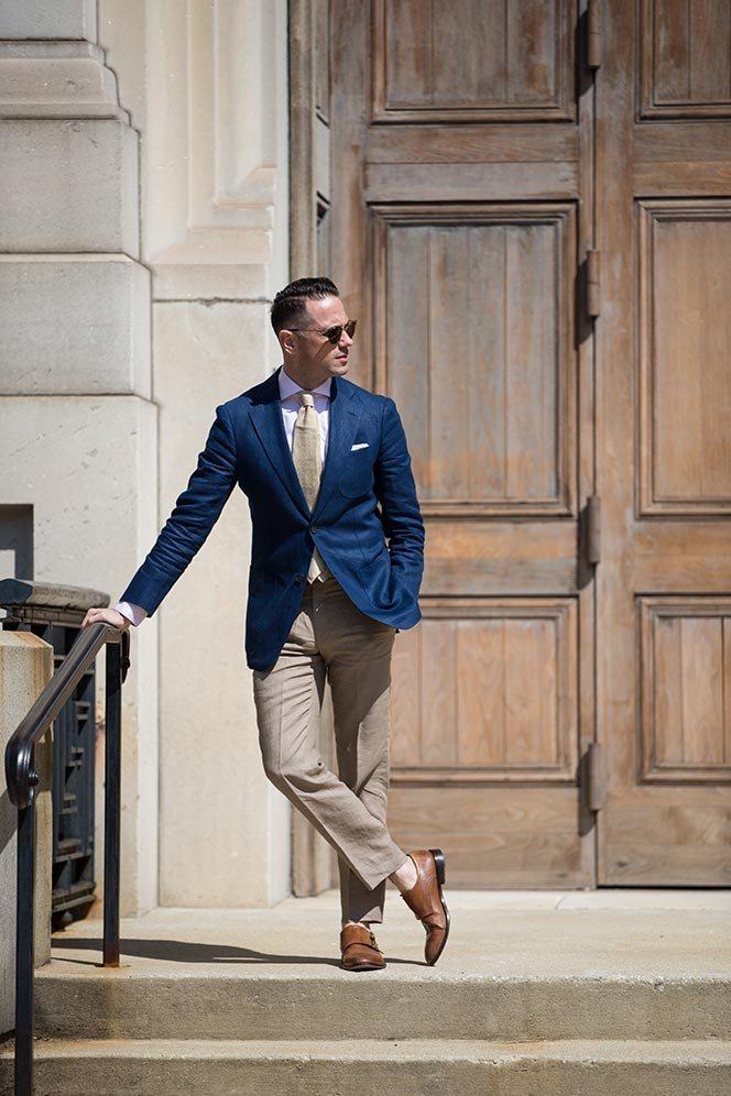 How To Pull Off Linen Trousers At Work He Spoke Style