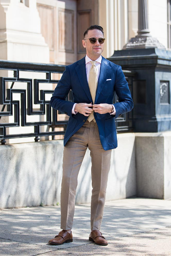 How To Pull Off Linen Trousers at Work - He Spoke Style