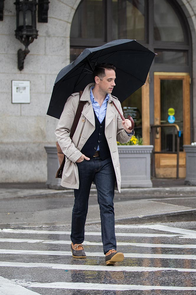 How To Dress For A Rainy Day He Spoke Style