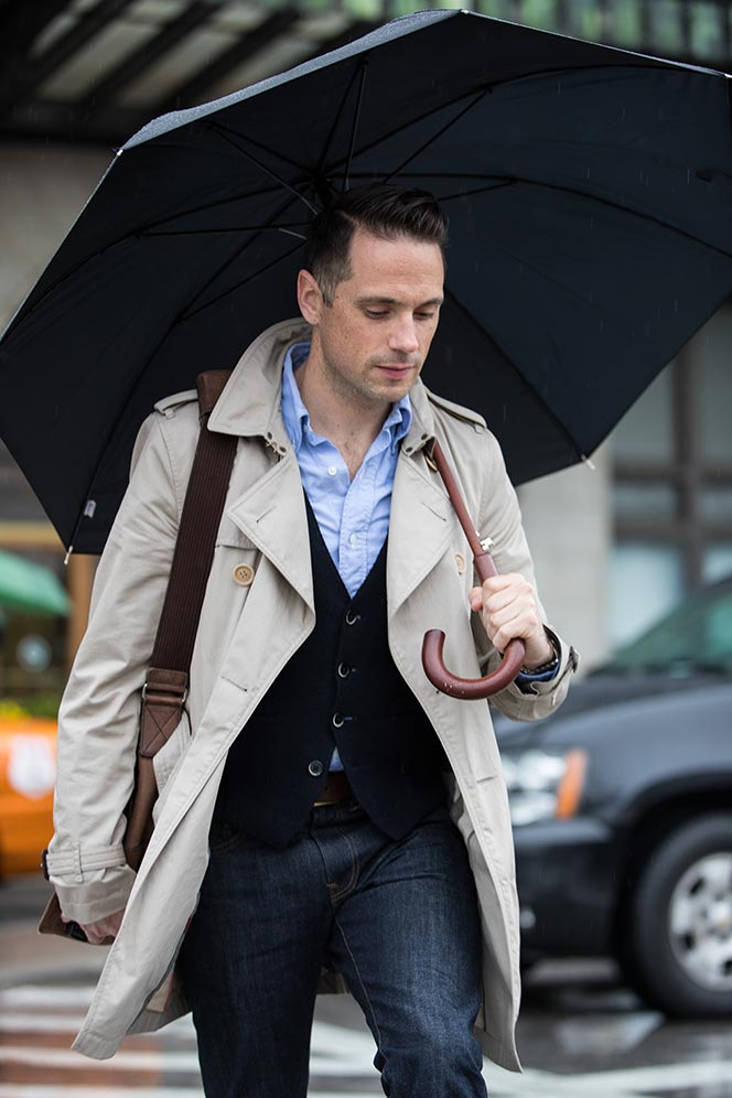 ac574ef6df7 How To Dress For a Rainy Day - He Spoke Style