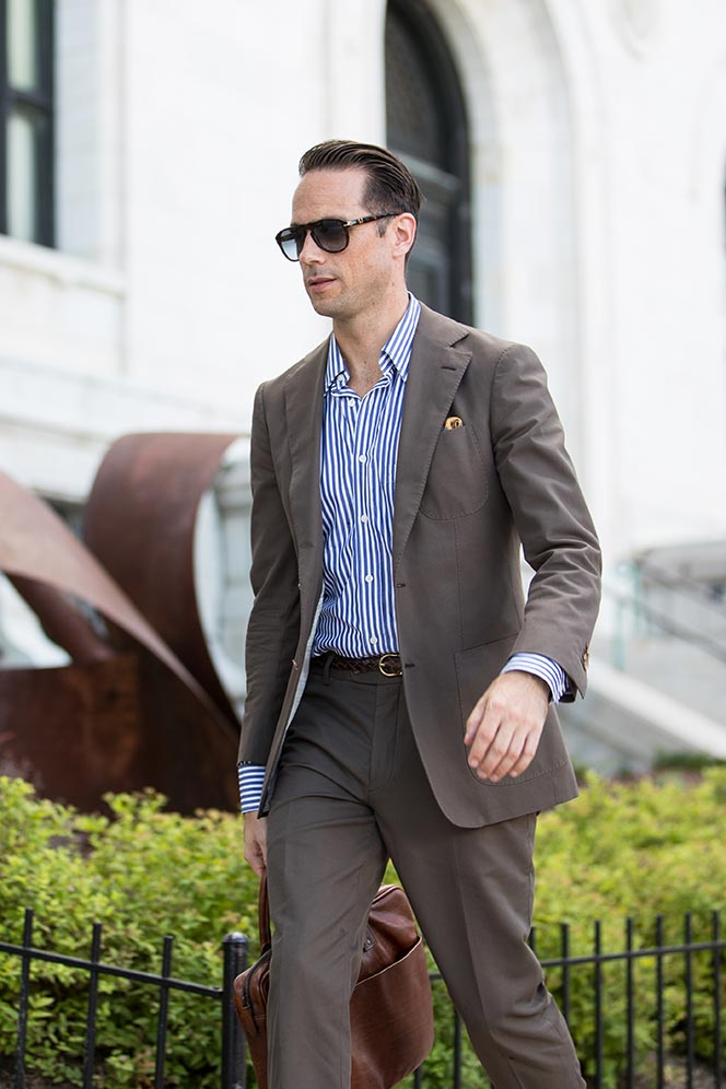 modern business casual summer suit