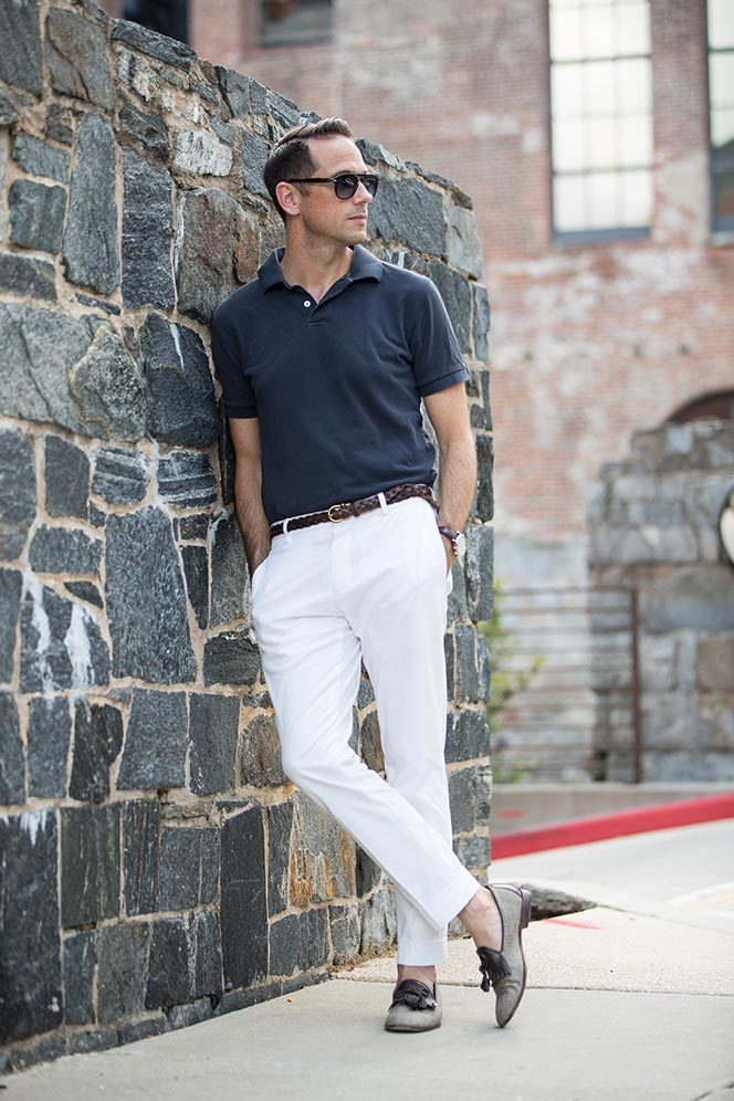 polo shirt outfit simple casual