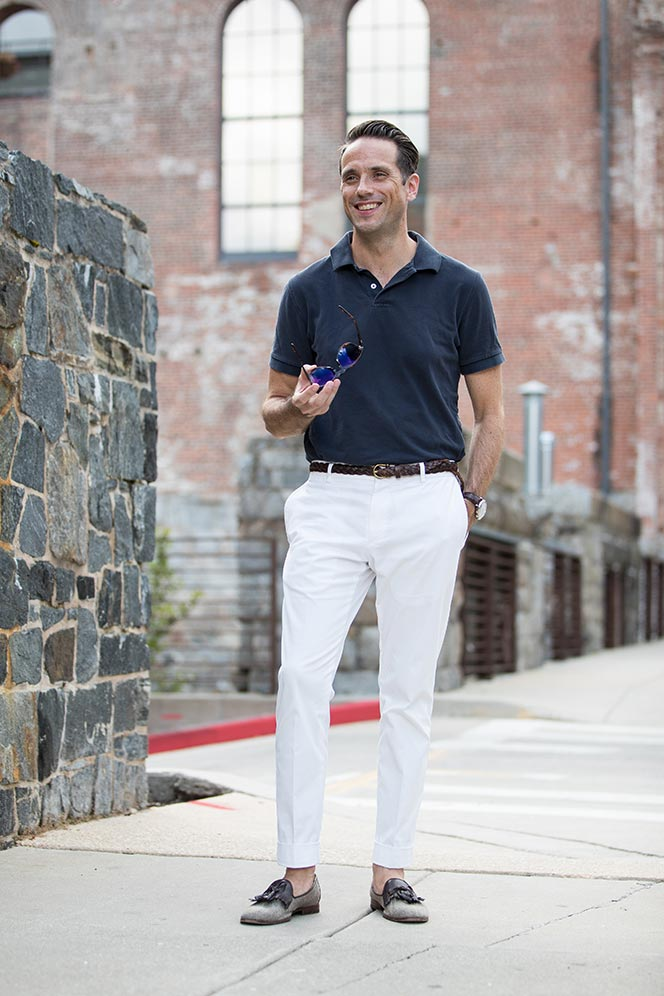 summer simply polo shirt and chinos he spoke style