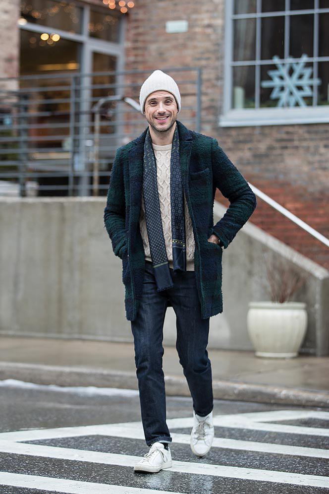 last-minute-christmas-casual-holiday-party-attire-boiled-wool-tartan-coat-sweater-jeans-9
