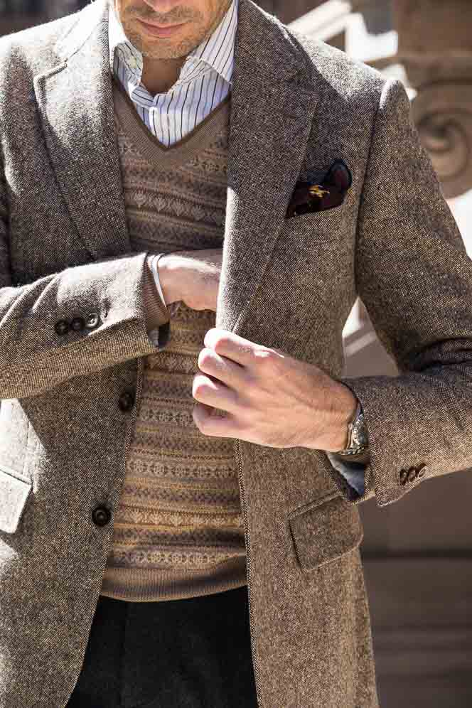 how to wear fair isle sweater
