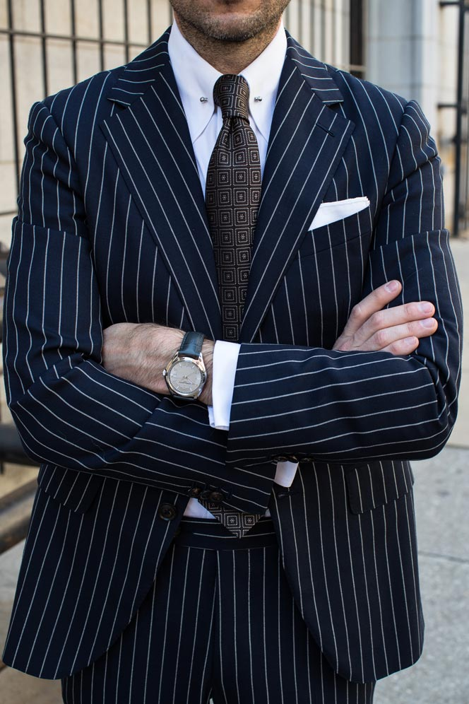 pinstripe suit outfit ideas