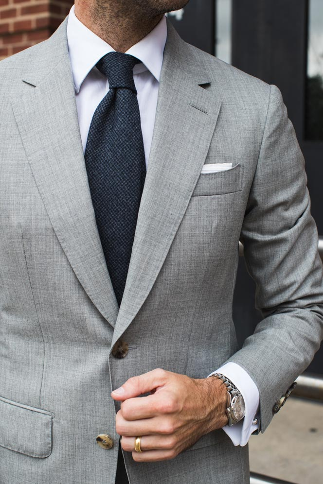 james bond light grey suit