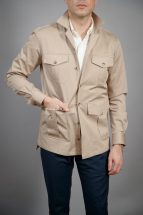Khaki Heavy Duty Cotton Safari Shirt Jacket